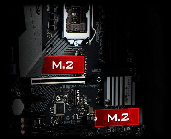 Slot M.2 suporta interface