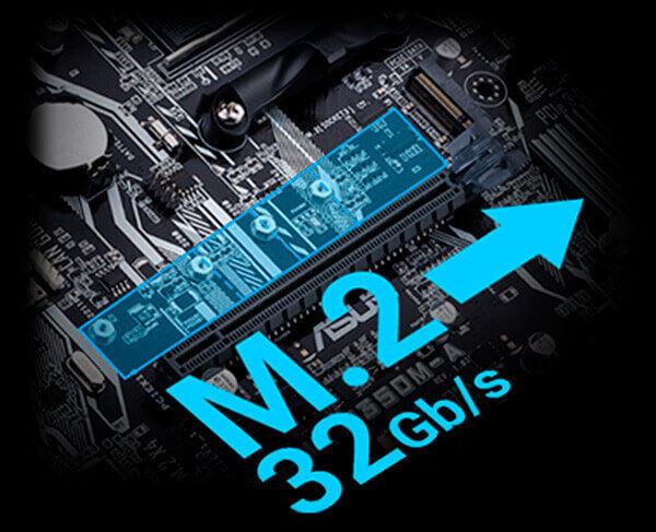M.2 suportam velocidades até 32 Gb/s