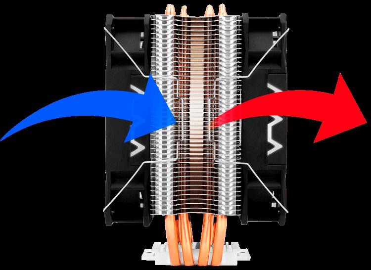 Corax equipado com duas ventoinhas