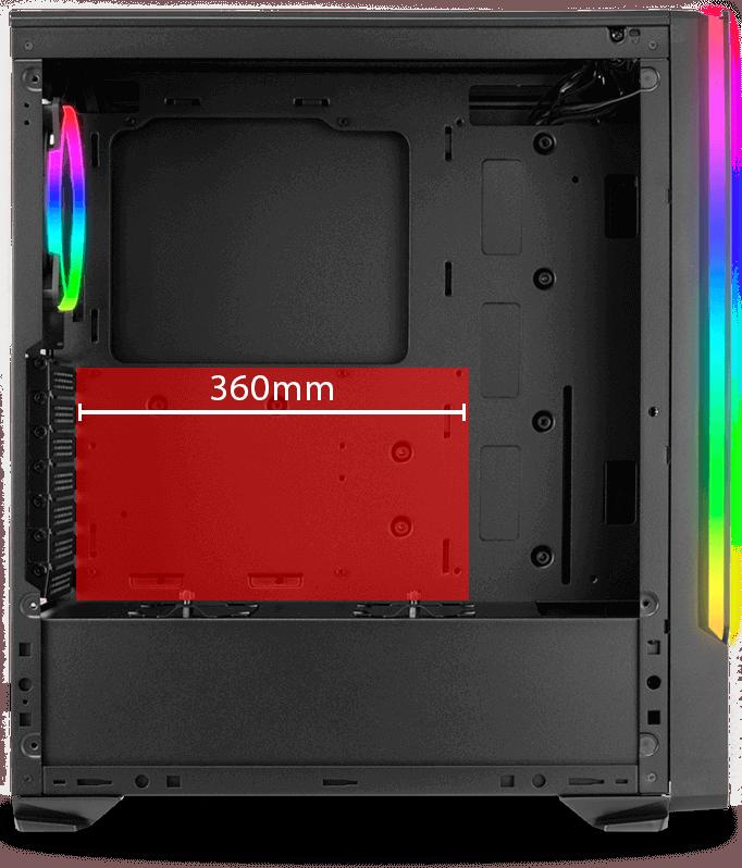 Archangel X tem suporte para VGA de até 360mm